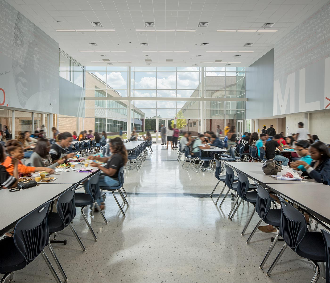 Martin Luther King High School lunch room