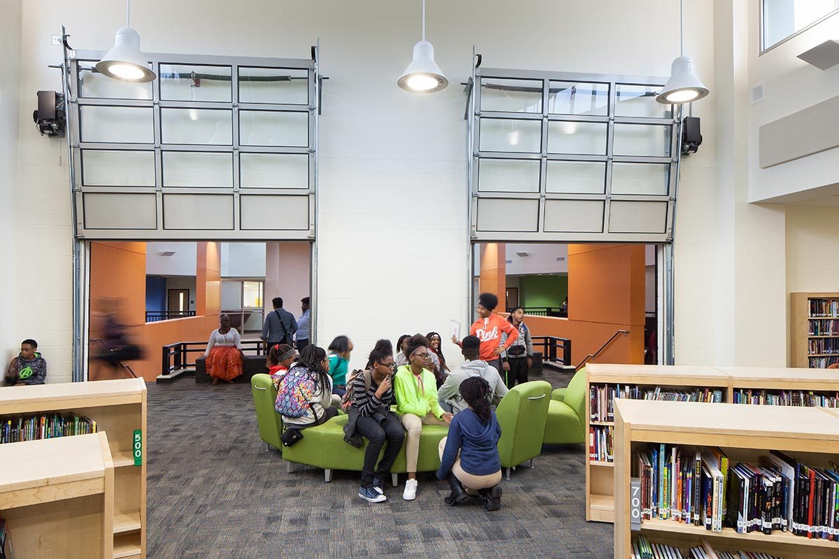McNair Middle School library