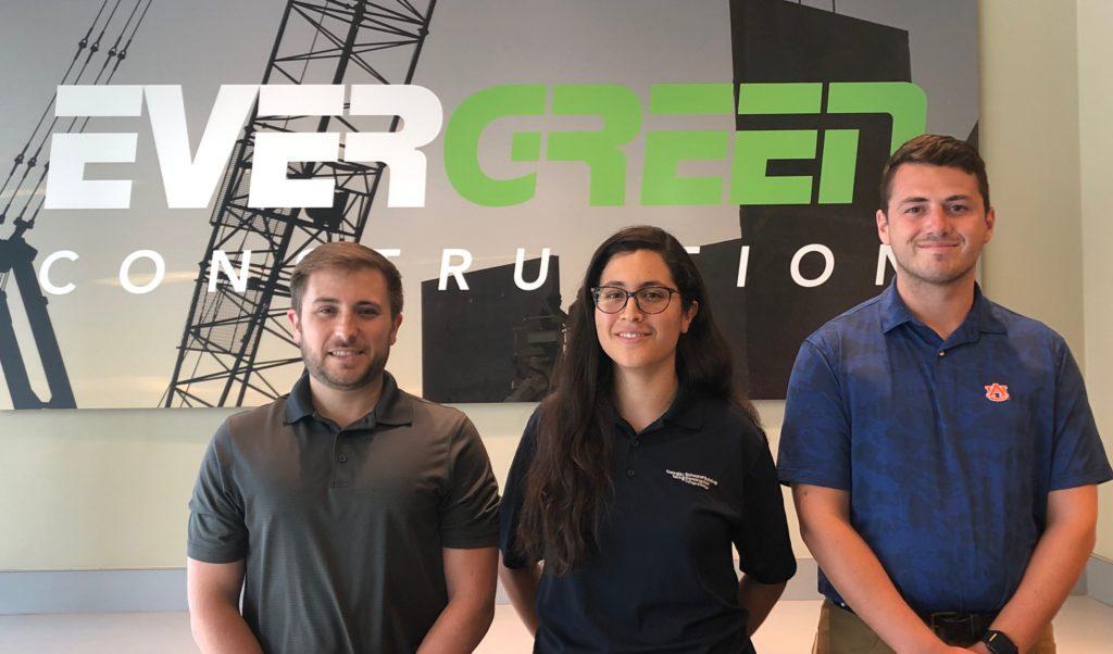 Evergreen Construction Interns 2019